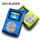 Foto Mini mp3 player micro sd 32 com cabo de dados fm